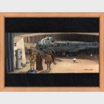 """D'après le film """"Star wars - un nouvel espoir"""", la première découverte du vaisseau spatial le """"Faucon millénium"""""""
