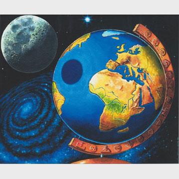 Le globe et la lune