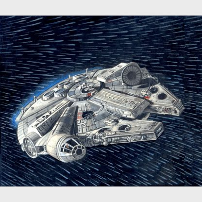 "Peinture ""Star Wars - Millenium Falcon"""