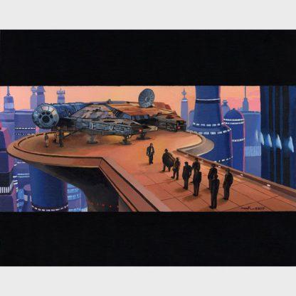 "Peinture ""Star Wars – L'arrivée sur Bespin"""