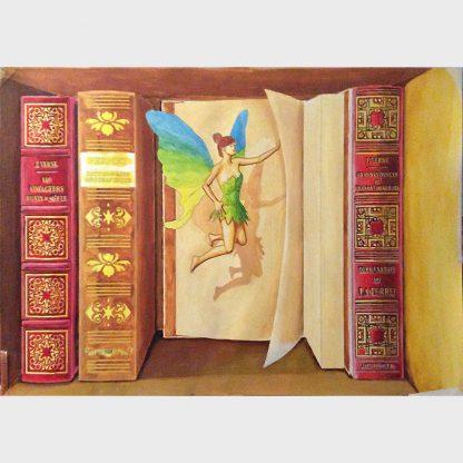 """Une """"fée de blibliotèque"""" bouge les livres lorqu'il n'y a plus personne"""