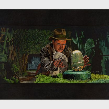 "Peinture ""Indiana Jones – l'idole"""