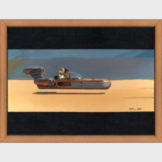 """D'après le film """"Star wars - un nouvel espoir"""", Luke Skywalker et C3PO partent à la recherche du robot R2D2"""
