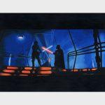 Le combat au sabre laser entre Luke Skywalker et dark Vador