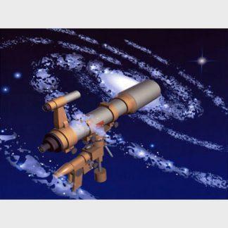 Un téléscope imbriqué dans une galaxie