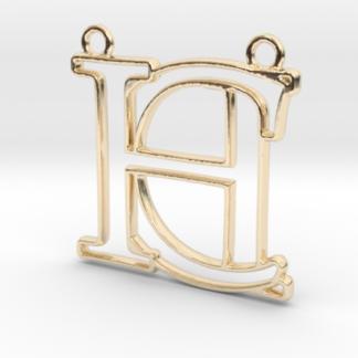 """""""C&H initiales en contour"""" imprimées en 3D"""