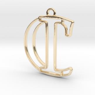 """""""C&I initiales en contour"""" imprimées en 3D"""