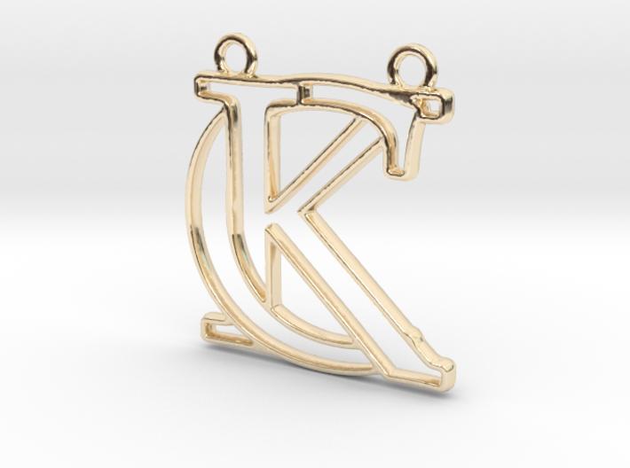 """""""C&K initiales en contour"""" imprimées en 3D"""