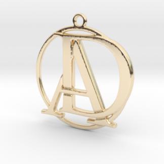 """""""A&D initiales et anneau"""" imprimés en 3D"""
