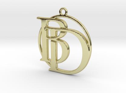 """""""B&D initiales et anneau"""" imprimés en 3D"""