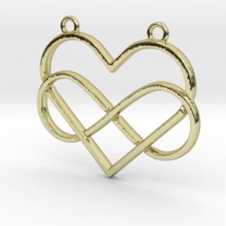 Cœur et signe infini entremêlés