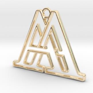 """""""A&A initiales en contour"""" imprimées en 3D"""