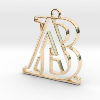"""""""A&B initiales en contour"""" imprimées en 3D"""