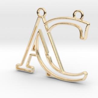 """""""A&C initiales en contour"""" imprimées en 3D"""