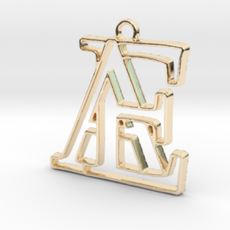 """""""A&E initiales en contour"""" imprimées en 3D"""