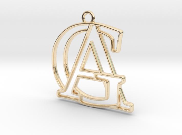 """""""A&G initiales en contour"""" imprimées en 3D"""