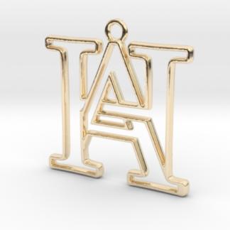 """""""A&H initiales en contour"""" imprimées en 3D"""