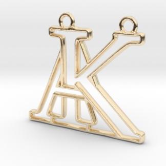 """""""A&K initiales en contour"""" imprimées en 3D"""