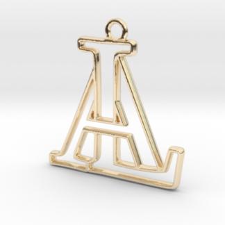 """""""A&L initiales en contour"""" imprimées en 3D"""