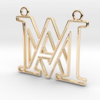 """""""A&M initiales en contour"""" imprimé en 3D"""