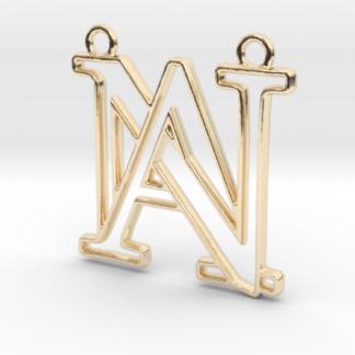 """""""A&N initiales en contour"""" imprimées en 3D"""