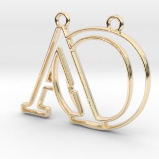 """""""A&O initiales en contour"""" imprimé en 3D"""