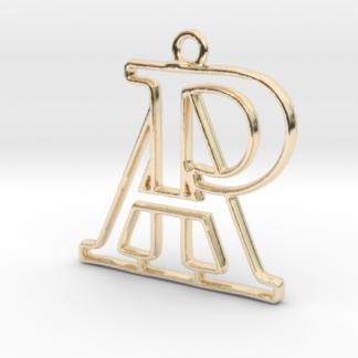 """""""A&P initiales en contour"""" imprimé en 3D"""