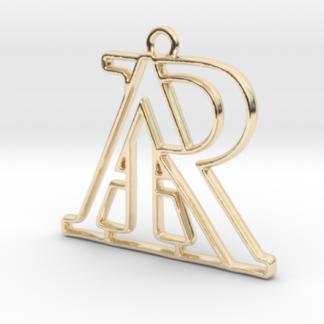 """""""A&R initiales en contour"""" imprimé en 3D"""