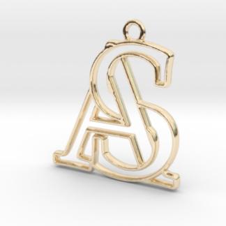 """""""A&S initiales en contour"""" imprimé en 3D"""