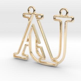 """""""A&U initiales en contour"""" imprimé en 3D"""