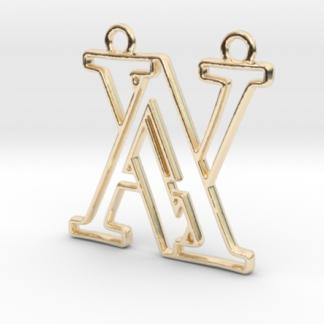 """""""A&V initiales en contour"""" imprimé en 3D"""