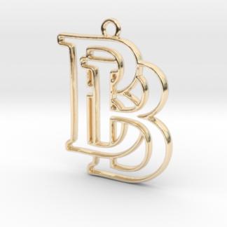"""""""B&B initiales en contour"""" imprimées en 3D"""