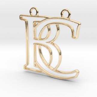 """""""B&C initiales en contour"""" imprimées en 3D"""