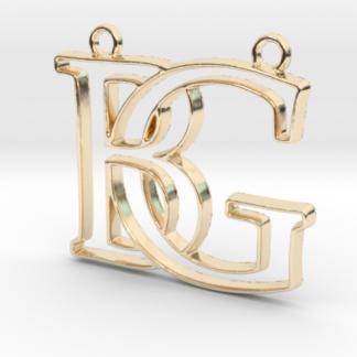 """""""B&G initiales en contour"""" imprimées en 3D"""