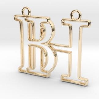 """""""B&H initiales en contour"""" imprimées en 3D"""
