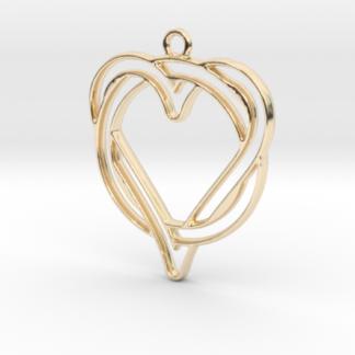 Cercle et cœur en contour