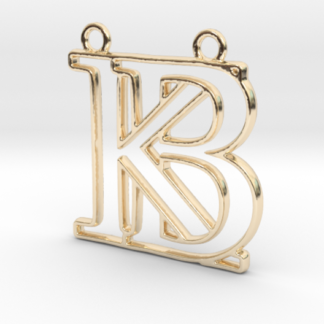 """""""B&K initiales en contour"""" imprimées en 3D"""