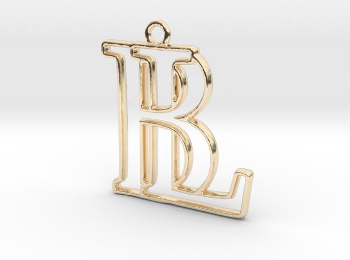 """""""B&L initiales en contour"""" imprimées en 3D"""