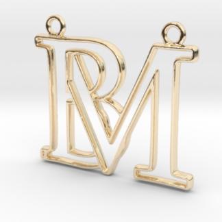 """""""B&M initiales en contour"""" imprimées en 3D"""