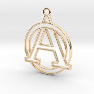 """""""A initiale en contour et cercle"""" imprimé en 3D"""
