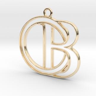 """""""B initiale et anneau en contour"""""""
