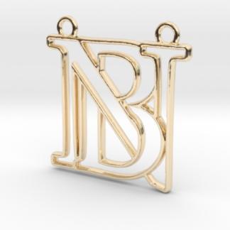 """""""B&N initiales en contour"""" imprimées en 3D"""