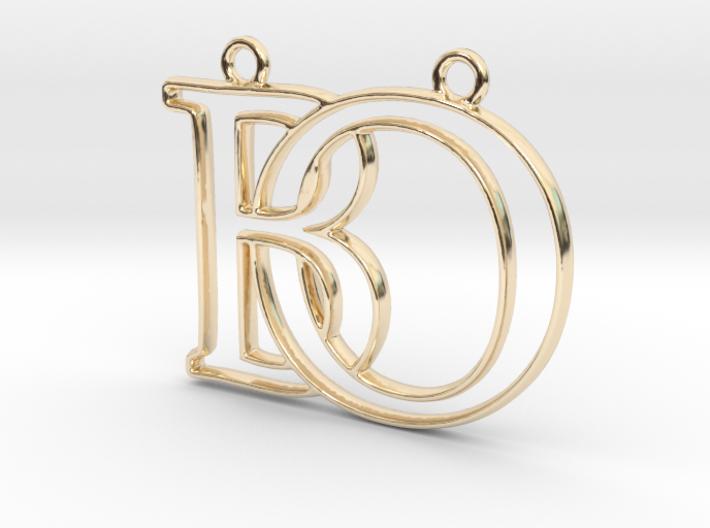 """""""B&O initiales en contour"""" imprimées en 3D"""