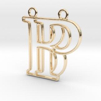 """""""B&P initiales en contour"""" imprimées en 3D"""