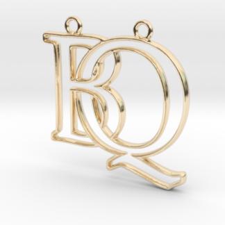 """""""B&Q initiales en contour"""" imprimées en 3D"""
