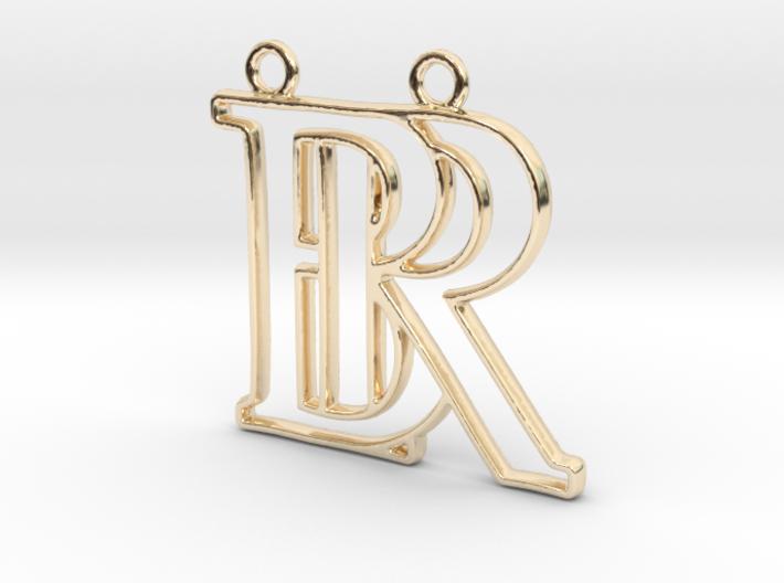"""""""B&R initiales en contour"""" imprimées en 3D"""