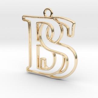 """""""B&S initiales en contour"""" imprimées en 3D"""