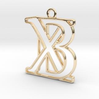 """""""B&X initiales en contour"""" imprimées en 3D"""