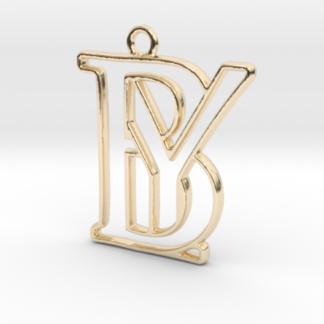 """""""B&Y initiales en contour"""" imprimées en 3D"""