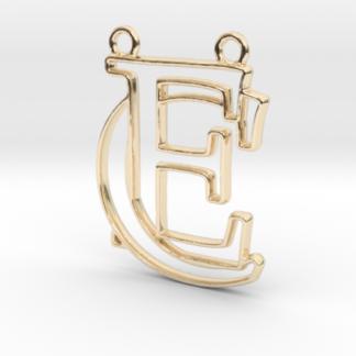 """""""C&E initiales en contour"""" imprimées en 3D"""